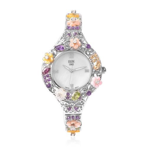 Jardin Collection-EON 1962 Swiss Movement  Water Resistant Bracelet Watch(Size 7.5 with Extender) in