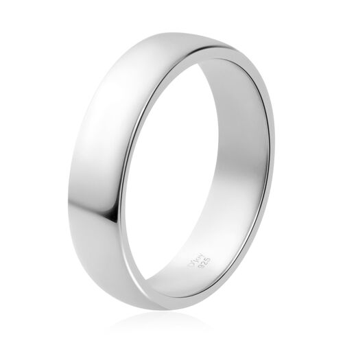 Personalised Silver Classic 5mm Band Ring with Custom Engraving