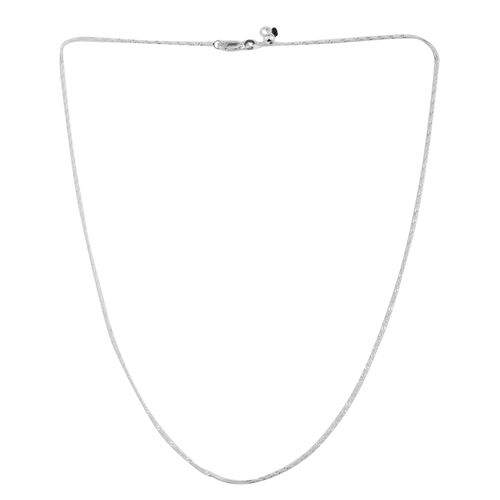 Vicenza Collection Sterling Silver Adjustable Singapore Chain (Size 24)