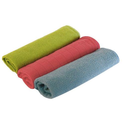 ROLSON Set of 3 - Multi - Purpose Microfibre Cloths - Reusable