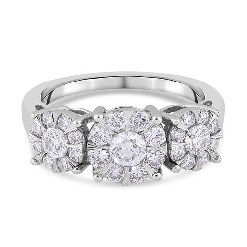 NY Close Out Deal - 14K White Gold Diamond (I1/G-H) Ring 1.00 Ct.