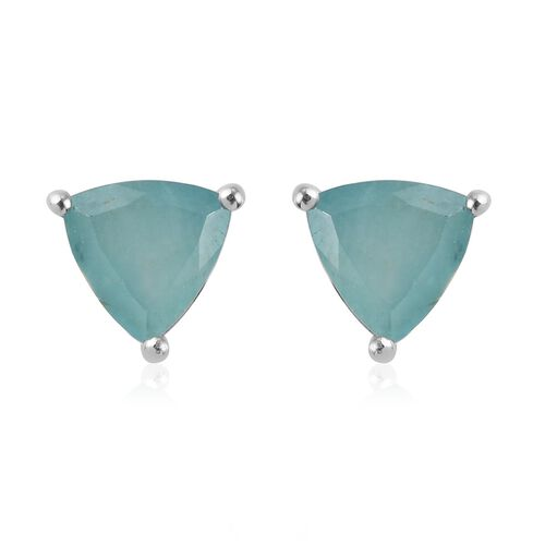 Grandidierite Earrings (with Push Back) in Platinum Overlay Sterling Silver 1.700  Ct.