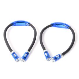 2 Piece Set - Hands Free Multi-Functional Flexible NeckLight with 4 LED Bulbs (Size 25 Cm)