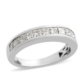 RHAPSODY 0.70 Ct Diamond Half Eternity Band Ring in 950 Platinum IGI Certified VS EF