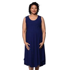 JOVIE Solid Navy Sleeveless Dress (Size up to 20)