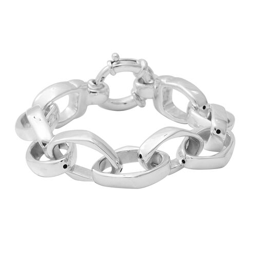 Link Bracelet in Sterling Silver 22.51 Grams 8 Inch