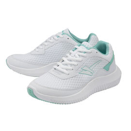 Gola Wexford Lace Up Ladies Trainer in White and Sea Mist Colour