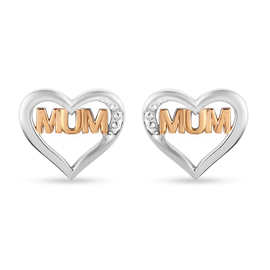 Sterling Silver Stud Earrings (with Push Back)