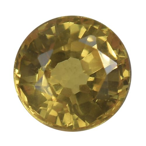 AA Yellow Sapphire Round 5 Faceted 0.51 Cts