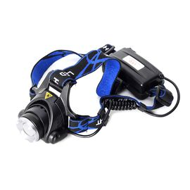 Adjustable LED Head Light (Size 23x9x7 Cm) Blue and Black