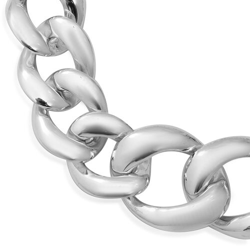 Limited Edition - Statement Jewellery - Sterling Silver Curb Link Necklace (Size 20), Silver wt 96.41 Gms