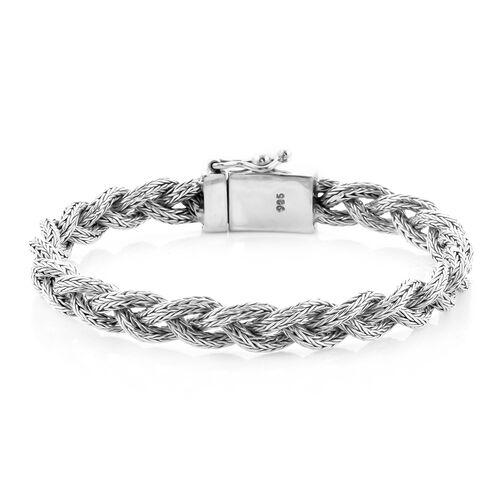 Royal Bali Collection - Sterling Silver Tulang Naga Kelabang Bracelet (Size 7.5), Silver wt 27.00 Gm