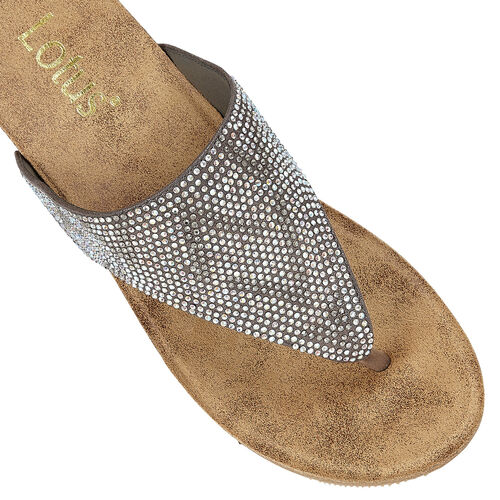 Lotus Patsy Wedge Sandals (Size 3) - Pewter