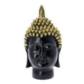 Buddha Head Statue (Size 11x12x23cm) - Gold