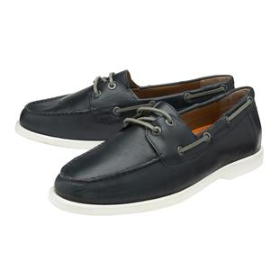 FRANK WRIGHT Keel Leather Boat Shoe - Navy