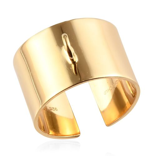 Open Band Ring in Yellow Gold Plated Sterling Silver