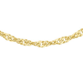 9K Yellow Gold Twisted Curb Chain (Size 20), Gold wt 3.70 Gms