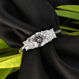 J Francis Sterling Silver Ring Made with SWAROVSKI ZIRCONIA 2.47 Ct