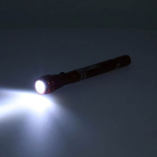 Set of 2 - Flexible 3LED Flashlights with Magentic Head and Base (4xLR44 battery Included) - Red Colour