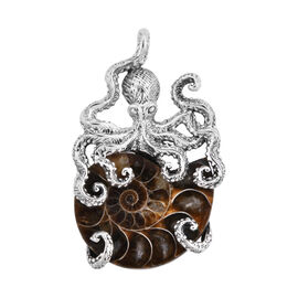 Royal Bali Collection Ammonite Octopus Pendant in Sterling Silver, Silver wt 12.40 Gms