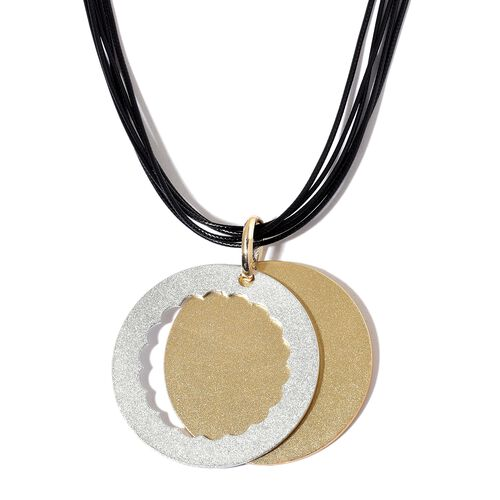 Handcrafted Circle Necklace (Size 24 with 3 inch Extender) in Dual Tone