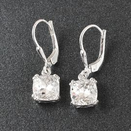 J Francis Crystal from Swarovski - White Crystal Earrings in Sterling Silver