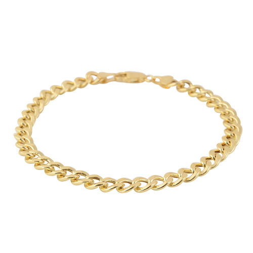 Vicenza Collection- 9K Y Gold Curb Bracelet (Size 8), Gold wt 5.44 Gms.