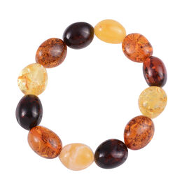 80 Ct Baltic Amber Beaded stretchable Bracelet Size 7 Inch