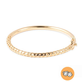 RACHEL GALLEY Yellow Gold Overlay Sterling Silver Allegro Kids Bangle (Size 6.2), Silver wt 14.21 Gm