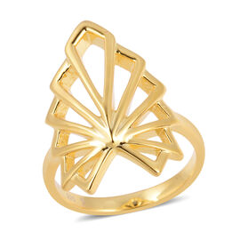 Lucy Q Yellow Gold Overlay Sterling Silver Skeleton Angel Wing Ring