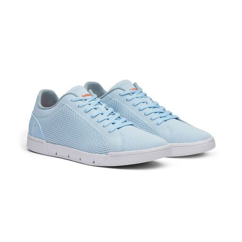 Swims Breeze Tennis Knit Womens Trainer (Size 8) - Baby Blue