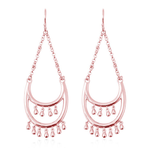 LucyQ Drip Collection - Rose Gold Overlay Sterling Silver Hook Earrings