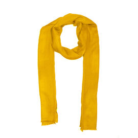 100% Cashmere Wool Yellow Colour Scarf (Size 200x70 Cm)