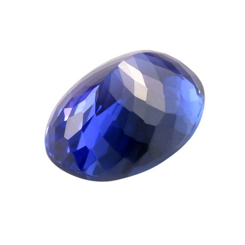 IGI Certified AAAA Tanzanite Oval Mixed Cut 14.69x10.54x8.19mm 9.40Cts
