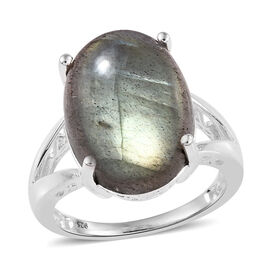 Labradorite (Ovl 16x12 mm) Ring in Sterling Silver 10.25 Ct.