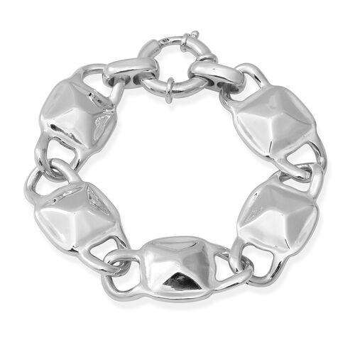 Link Bracelet with Senorita Clasp in Thai Sterling Silver 23.48 Grams 8 Inch