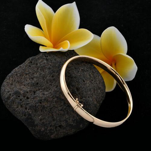 Royal Bali Collection- 9K Y Gold Bangle (Size 7.75), Gold wt 7.03  Gms.