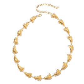 Isabella Liu - Sea Rhyme Collection - Yellow Gold Overlay Sterling Silver Necklace (Size 16.5 with 4