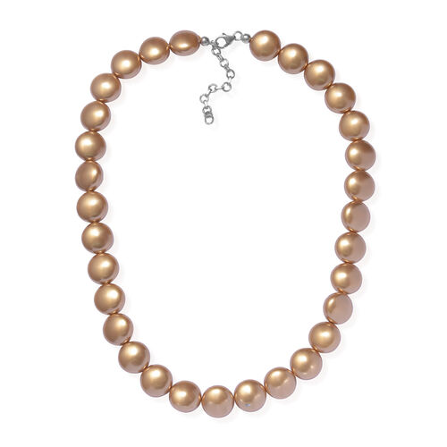 J Francis Bright Gold Crystal From Swarovski Beaded Necklace in Sterling Silver
