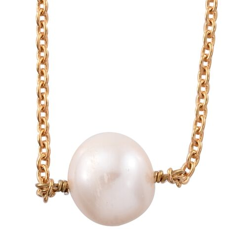 Fresh Water Pearl Necklace (Size 18) in 14K Gold Overlay Sterling Silver