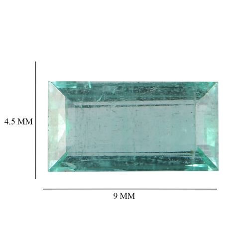 Emerald Baguette 9x4.5 Faceted 1A 1.16 Cts