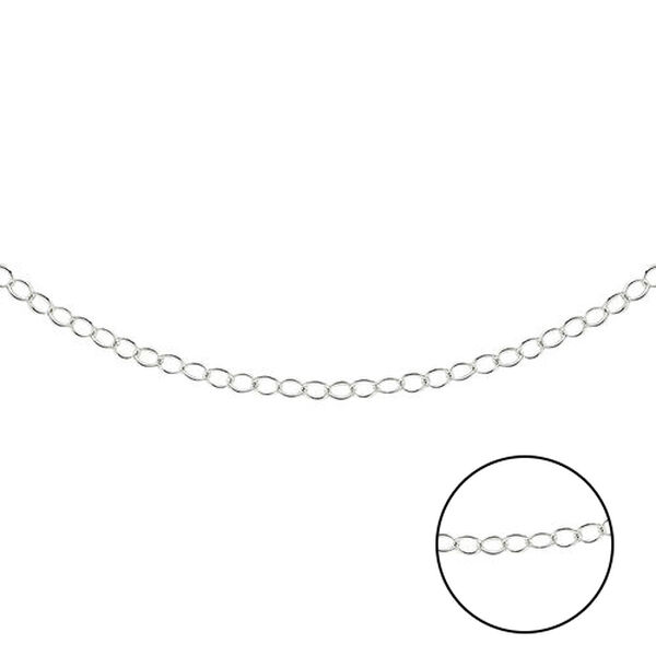 Rolo Chain Necklace in Sterling Silver 16 Inch
