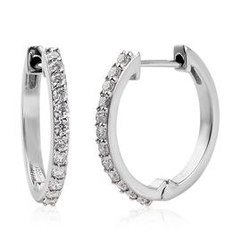 RHAPSODY 950 Platinum IGI Certified Diamond (VS/E-F) Inside-Out Hoop Earrings (with Clasp Lock) 0.50
