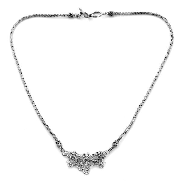 Royal Bali Collection - Sterling Silver Octopus Necklace (Size 20), Silver wt 23.80 Gms
