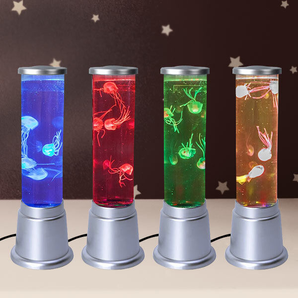 Homesmart - Colour Changing Floating Jelly Fish Mood Relaxing Decorative Therapeutic Light 40 Cms