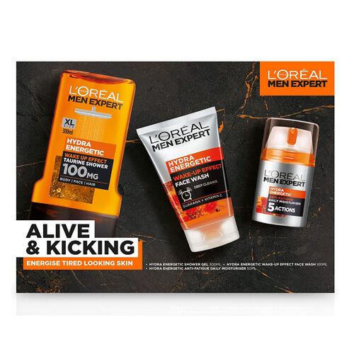 LOreal Men Expert Alive & Kicking Gift Set  (Incl.Hydra Energetic Shower Gel - 300ml, Hydra Energeti