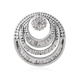 9K White Gold SGL CERTIFIED Diamond (Rnd and Bgt) (I3 / G-H) Pendant 0.250 Ct.
