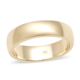 9K Yellow Gold Band Ring (Size L)
