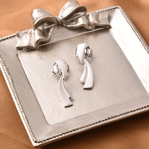 RACHEL GALLEY Rhodium Overlay Sterling Silver Earrings (with Push Back)