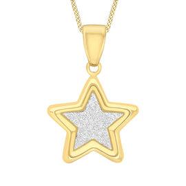 9K Yellow Gold Star Stardust Pendant